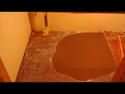 How To Level A Concrete Floor Before Tile Installation - Step By Step - DIY