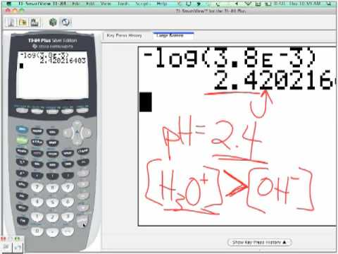 Calculating pH from a Concentration of Hydronium