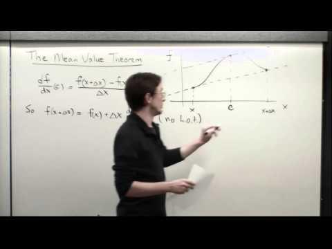 Supplement: Mean Value Theorem
