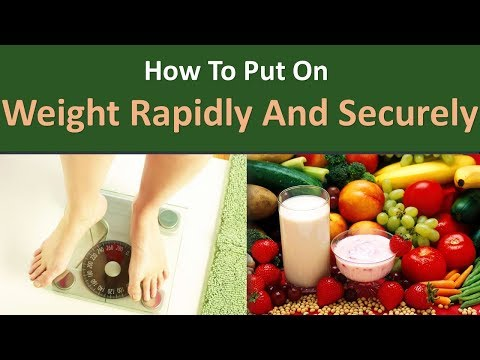 How to put on weight rapidly and securely.|Consumption of protein wealthy foods.