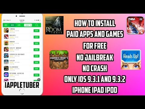 How to Get Paid Apps and Games For FREE on iOS 9.3.1 / 9.3.2 / 9.3.5 ( No JB / PC) iPhone,iPad,iPod