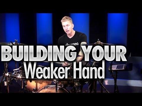 Building Your Weaker Hand - Drum Lesson (DRUMEO)