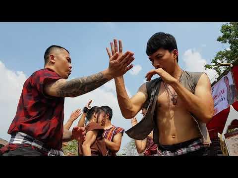 Old style muay thai training
