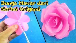 Cara Mudah Membuat Bunga Mawar Dari Kertas