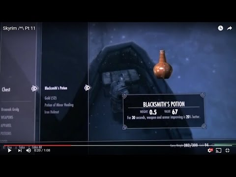 Skyrim /*\ Pt 11 Blacksmith Potion