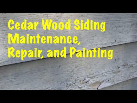Easy Cedar Wood Siding Maintenance, Repair, and Painting