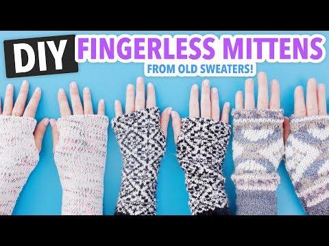 DIY Fingerless Mittens made from Old Sweaters! - HGTV Handmade