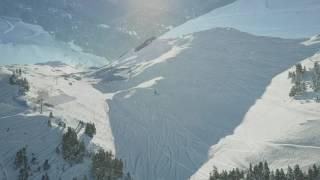 DJI Mavic PRO active tracking snowboarding