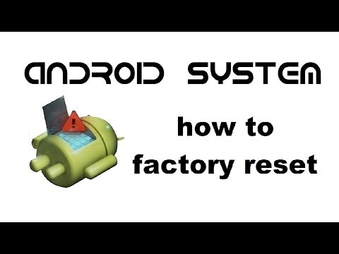 ANDROID Device Tablet Smart phone - How to Reset / Unlock Android Password, Factory / Hard reset