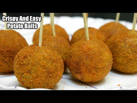 झटपट बनाये कुरकुरे आलू बॉल्स Crispy Potato Balls | Potato Lollipop Recipe In Hindi | Aloo Snacks