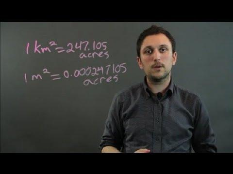 How to Convert Kilometers & Meters to Acres : Geometry, Algebra & More