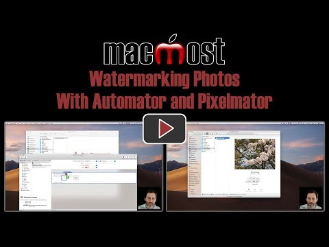 Watermarking Photos With Automator and Pixelmator (MacMost #1807)