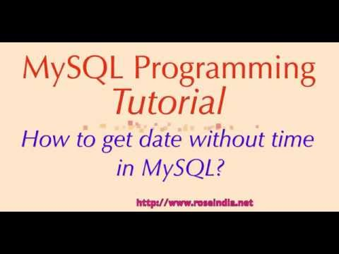 How to get date without time in MySQL?
