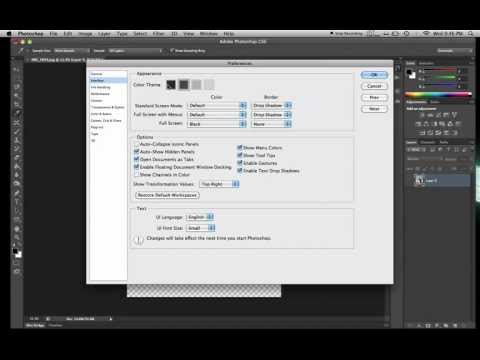 Adobe Photoshop: Changing the Interface Color