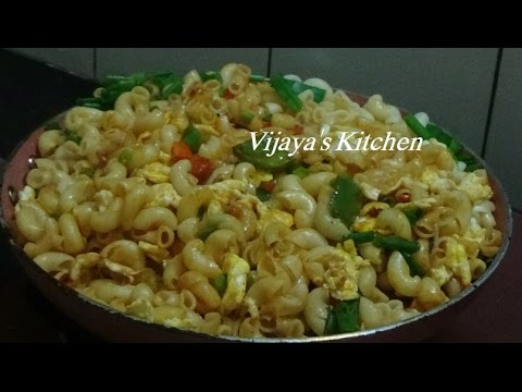 Simple and easy Vegetable and egg pasta recipe