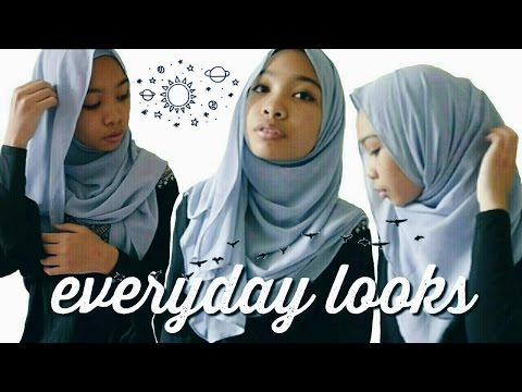 9 Everyday Shawl Looks/Hijab Styles by i am an ilham