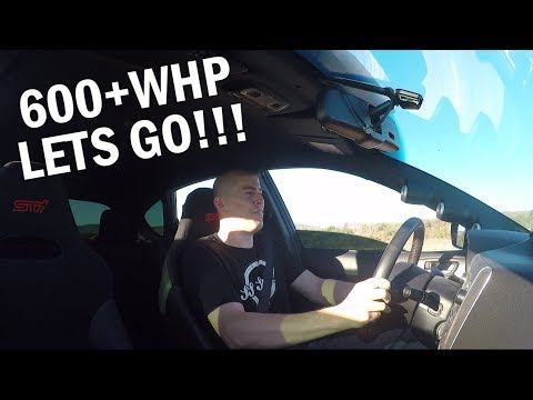 First Reaction To The 600 WHP Subaru STI - Highway Pulls & Acceleration