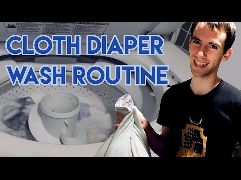 Cloth Diaper Wash Routine to get CLEAN Diapers!