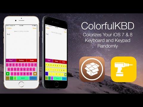 ColorfulKBD: Colorizes Your iOS 7 & 8 Keyboard and Keypad Randomly