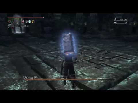 bloodborne pthumerian elder boss glitch death @ 9x9gipey modded chalice glyph