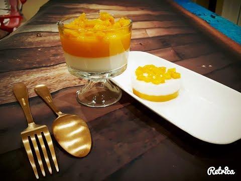 4 Ingredient Easy Dessert - Jackfruit Coconut Milk  Panna Cotta