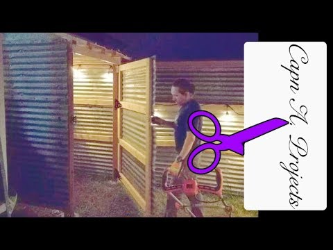 How to BUILD a Corrugated Metal Garden Shed