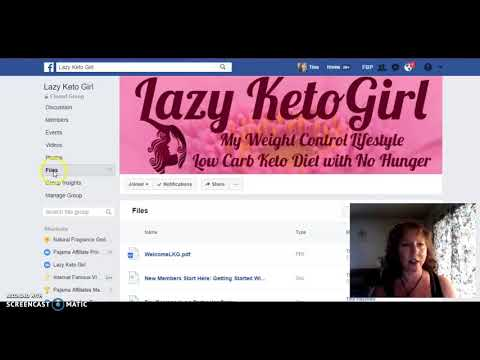 A welcome to Lazy Keto Girl Facebook Group