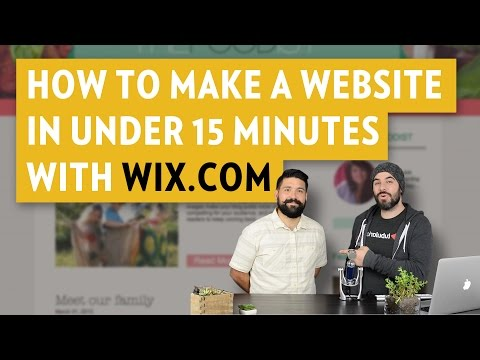 How To make a website in under 15 minutes with Wix.com