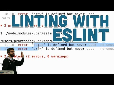 Linting with ESLint