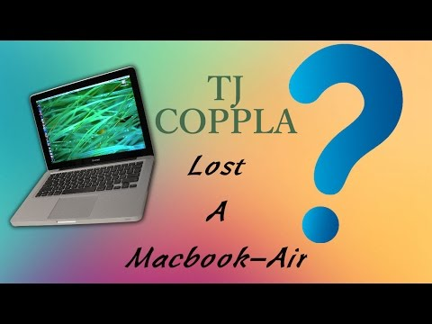 I Lost A Macbook-Air???