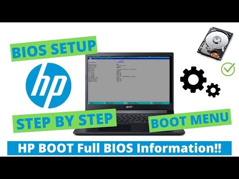 HP Laptop Boot Menu And BIOS Option