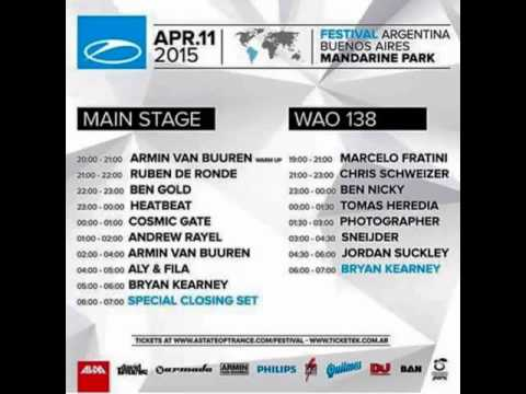 Jordan Suckley - A State of Trance Festival Argentina, Who's Afraid of 138?! Area (11.04.2015)