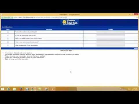 How to Activate Indian Bank Internet Banking Service - Tamil TechGuruJi