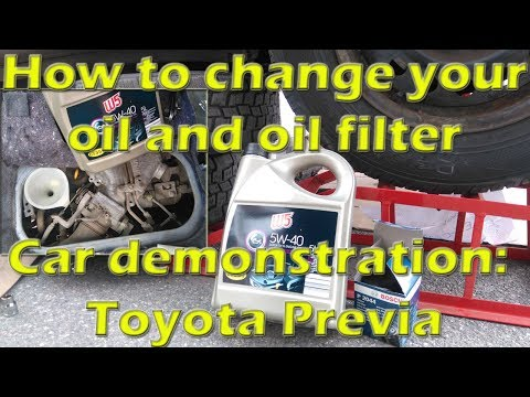 How to change your oil and oil filter, car Toyota Previa