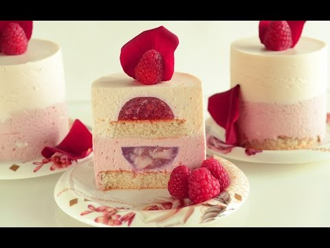 Raspberry Lychee Individual Mousse Cakes with Rose Water – Ispahan Dessert Version