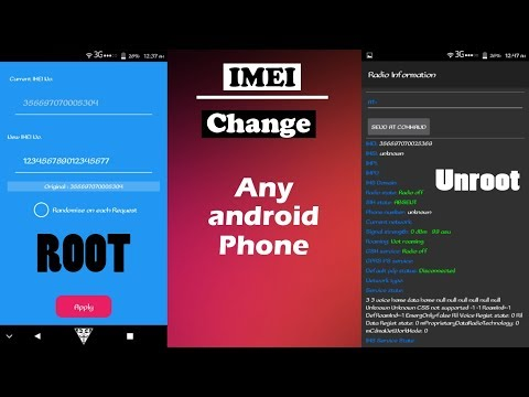 How To Change IMEI Number root and unroot android Phone - Bangla