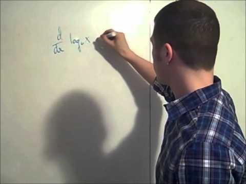 derivative of a logarithmic function