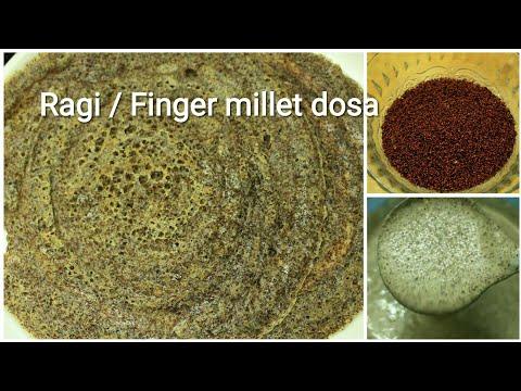 Ragi dosa - Ragi recipe - Finger millet recipe - Finger millet dosa - Ragi dosa recipe