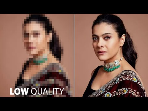 How to make low to high quality/resolution photo/image in Photoshop in Hindi