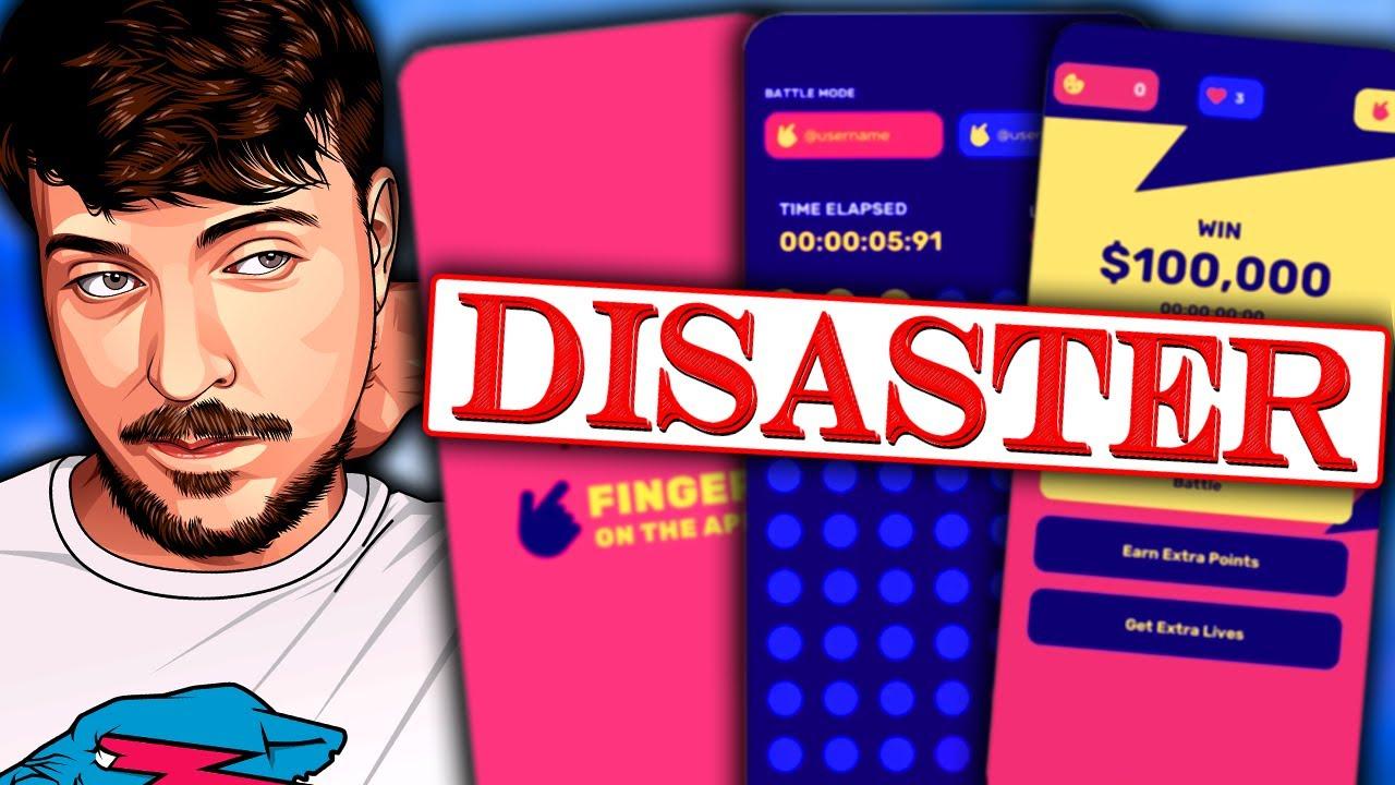 Mr Beast's Accidental Challenge Catastrophe (Finger on the App 2)