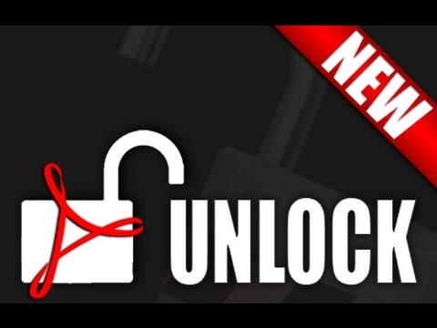 How to unlock or unsecure secured pdf file -simplest trick