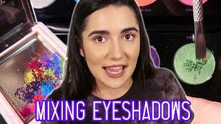 Mixing All My Eyeshadows Together