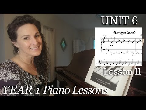 6-11B  Moonlight Sonata Part 2 [Year 1 #91B] Easy Piano Classics -  Free Adult Video Piano Lessons