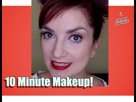 10 Minute Pinup Makeup in Real Time! by CHERRY DOLLFACE