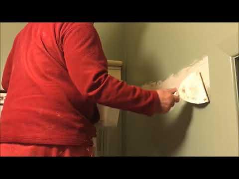 Crack in Fibrous Plaster wall Repair