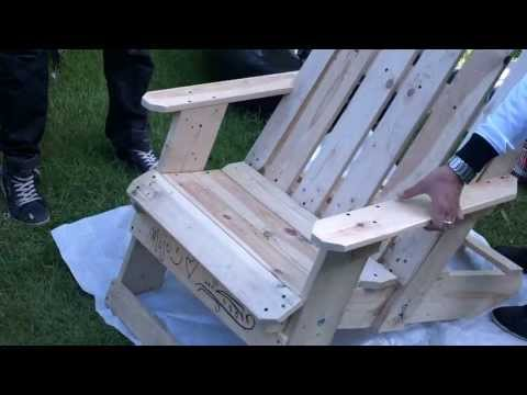 how to make garden chair from palllets