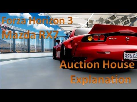 Forza Horizon 3 Mazda RX7 Auction House Explanation
