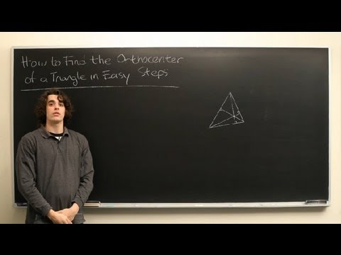 How to Find the Orthocenter of a Triangle in Easy Steps : High School Math