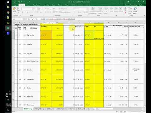 Convert Degrees Minutes Seconds column to Decimal Degrees Coordinates column