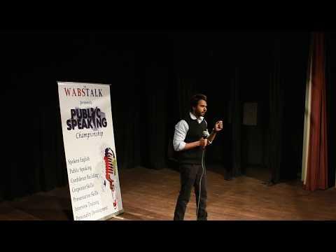 Fear | Vivek (IAS Aspirant) | Grand Public Speaking Championship
